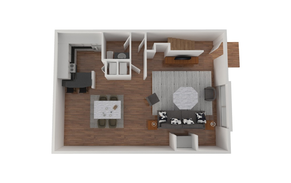 D1 - 2 bedroom floorplan layout with 1.5 bath and 1427 square feet. (Floor 2)