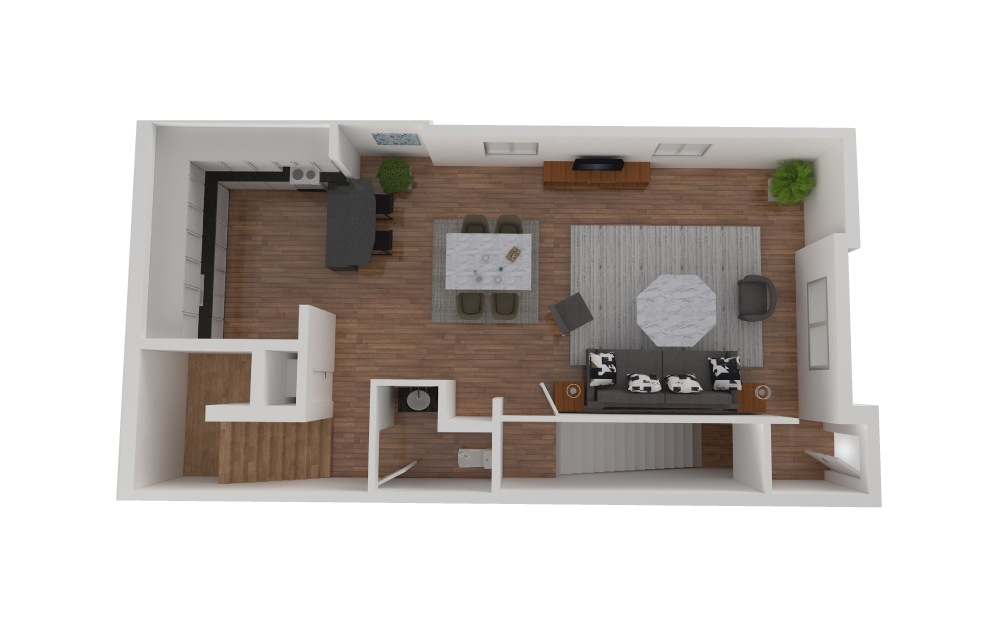 D3 - 2 bedroom floorplan layout with 2.5 baths and 1426 square feet. (Floor 2)