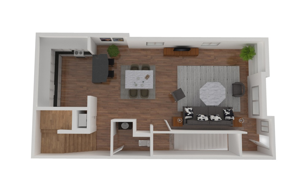 D4 - 2 bedroom floorplan layout with 2.5 baths and 1426 square feet. (Floor 2)
