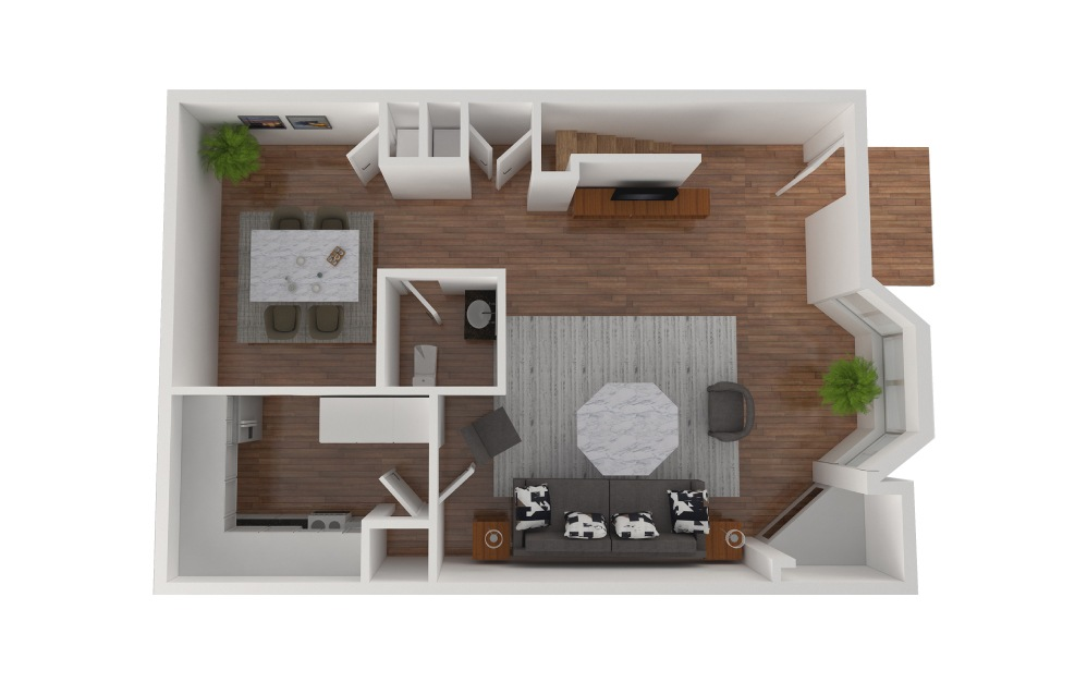 E2 - 3 bedroom floorplan layout with 2.5 baths and 1430 square feet. (Floor 2)